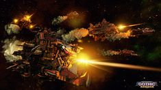 Battlefleet Gothic: Armada is the RTS videogame adaptation of Games Workshop's classic tabletop game, pitting the Chaos, Imperium, Eldar, and Orks against each other in visceral space-battles. Orks 40k, Warhammer 40k, Armada Game, Battlefleet Gothic Armada, Silkroad Online, Riot Points, Tau Empire, Life Space, Space Battles