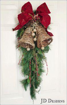 Christmas Decorated Door Swag