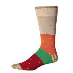 Robert Graham Fano Sock in Khaki
