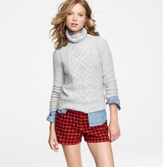 Flannel boxers in gingham: I have these and they're a good length