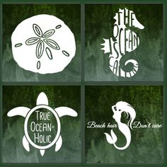 Dreaming of the beach? We have plenty of beach themed decals to choose from to help take the edge off and at the same time add some summer vibes to your car, laptop, or tumbler! Check out our Adventure Section for more options! Beach Themed Crafts, Beach Crafts, Diy Craft Projects, Diy Crafts, Arts And Crafts Furniture, Beach Signs, Aquarium Fish Tank, Miniature Fairy Gardens, Cricut Vinyl