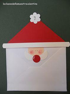 Cute advent calendar using envelopes Childrens Christmas Crafts, Fun Crafts For Kids, Christmas Projects, Christmas Mood, Holiday Fun, Christmas Holidays, Christmas Cards, Holidays With Kids, Winter Holidays