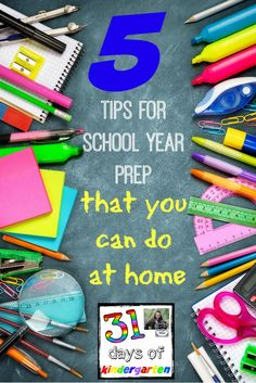 5 Tips for School Ye