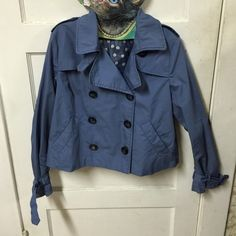 H&M's Divided Flared Trench Coat EUC. It's a cute trench coat that has an uptown girl vibe to it. Has super chic polka dots lining, size 42 UK Coat = size L in US H&M Jackets & Coats Trench Coats