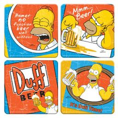 The Simpsons Duff Beer Coasters, Set of 4 Wood Coasters, 4 by 4-Inch, Multicolored Vandor,http://www.amazon.com/dp/B0086T82XE/ref=cm_sw_r_pi_dp_ssHltb0GDGJ745FV $12