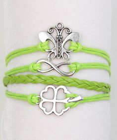 Love this Lime Green Infinity Bracelet by Charlotte Rose Couture on #zulily! #zulilyfinds