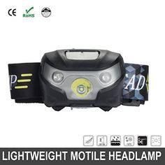 USB Rechargeable LED Headlamp Flashlight IR  Super Bright Waterproof  Comfortable  Perfect Headlamps for Running Walking Camping Reading Hiking Kids DIY  MoreMini USB Cable Included * See this great product.