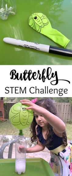 Caterpillar to Butterfly Science Activity with Balloon