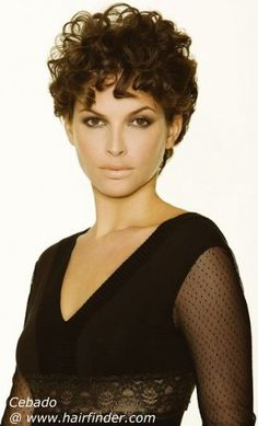 love this mature sexy look! Short Layer Curly Hair Cuts - Bing Images (for Sasha )