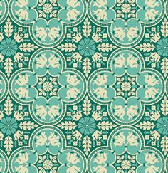 Notting Hill  Historic Tile in Teal  by Joel aqua teal turquoise