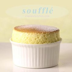Vanilla souffle 2 servings, 15 mins was still under cooked. Can make vanilla sauce after put souffles in the oven. Vanilla sauce is 4 servings. Just Desserts, Delicious Desserts, Dessert Recipes, Yummy Food, French Desserts, French Recipes, Vanilla Souffle Recipes, Souffle Recipe Dessert, Vanilla