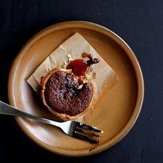 molten chocolate & salted caramel tarts