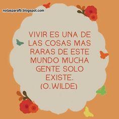 Notita con frases de Wilde