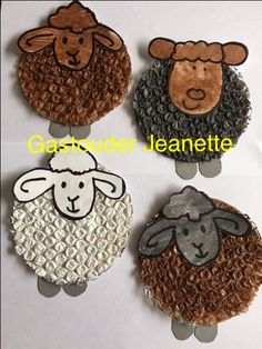 Fun Crafts For Kids, Summer Crafts, Diy For Kids, Holiday Crafts, Sheep Crafts, Farm Crafts, Diy Easter Cards, Easter Crafts, March Themes