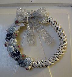 Button xmas wreath #2