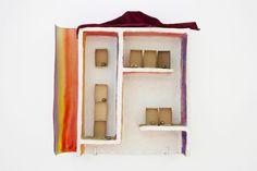 FAUSTO MELOTTI  L'ARCOBALENO IN CASA  1978    Courtesy :  Private Collection. Materials  Terracotta, paper, colour, fabric, brass