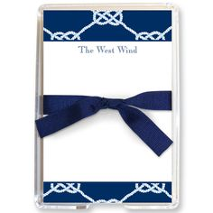 Personalized Nautical Knot Memo Sheets in Holder