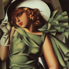 Tamara De Lempicka - Green Dress