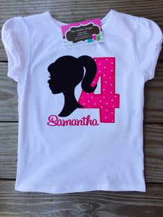 A personal favorite from my Etsy shop https://www.etsy.com/listing/224293581/barbie-birthday-shirt