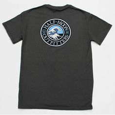 The Half-Moon Outfitters Wave Logo Short Sleeve T-Shirt is going to be your new favorite tee. These shirts are the softest, smoothest, best looking t-shirt avaliable anywhere  100% cotton preshrunk...