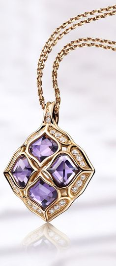 The collection teems with refined feminine flourishes. High Jewelry, Jewelry Accessories, Jewelry Design, Jewelry Box, Jewelry Bracelets, Necklaces, Disney Fine Jewelry, Amethyst Jewelry, Bulgari Jewelry