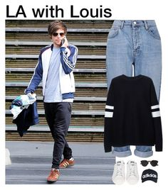 """""""LA with Louis"""" by khairinaa ❤ liked on Polyvore featuring moda, Topshop, Zara, adidas, Christian Dior, women's clothing, women, female, woman e misses"""