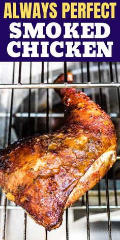 Smoked chicken Delicious easy recipe for smoked chicken quarters in your electric smoker. I use Masterbuilt smoker but any charcoal smoker will work too. Flavorful rub and orange glaze make this dinner meal absolutely fantastic. Smoker Grill Recipes, Smoker Cooking, Grilling Recipes, Cooking Brisket, Electric Smoker Recipes, Cooking Ham, Grilling Tips, Cooking Steak, Cooking Turkey