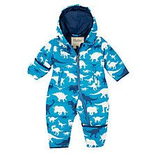 Buy Hatley Baby Dino Snowsuit, Blue Online at johnlewis.com