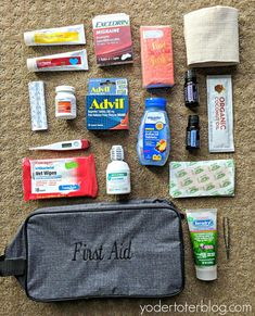 Packing for international travel with Thirty-One Gifts. The case acted as a first aid kit. Packing for international travel with Thirty-One Gifts. The case acted as a first aid kit. First Aid Kit Travel, Diy First Aid Kit, Travel Kits, Packing Tips For Travel, Travel Essentials, Packing Hacks, Travel Hacks, Packing Lists, First Aid Kid