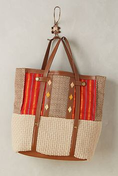 Use my woven 'Mexican' fabric      for upper portion   Palaui Foldover Tote