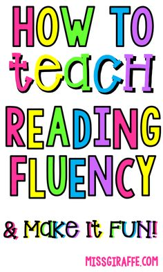 Tips for Building Reading Fluency Reading Fluency Activities, First Grade Reading Comprehension, Kindergarten Reading, Reading Strategies, Kids Reading, Dyslexia Activities, Kindergarten Blogs, Teaching Child To Read, Teaching Skills