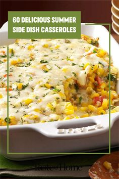 Think beyond salads and grilled veggies: these delicious casseroles make superb summer side dishes! Use your summer vegetables and make an outstanding side for your next big meal. Grilled Side Dishes, Summer Side Dishes, Grilled Veggies, Big Meals, Fresh Fruits And Vegetables, Summer Recipes, Casseroles, Entrees, Salads
