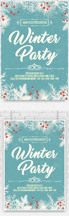 Winter Party Flyer Winter parties, Party flyer and Flyer template - winter flyer template