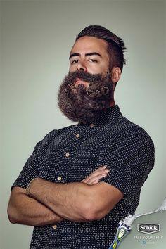Animal in man's beard