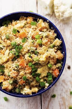 Looks and tastes exactly like fried rice! But so much healthier for you! Tastes amazing plain, or would also be great with some ham, chicken or meat added! I have been dying without ham fried rice. And apparently the rest of the world loves it too because it is one of the most popular recipes on …