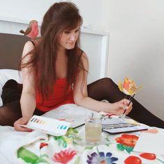 Ein kreatives, glückliches Leben beginnt im Kopf.... 🌈🎨 Playing Cards, Pandas, Happy Life, Adventure, Handmade, Creative, Gifts, Playing Card Games, Game Cards