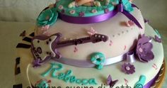 Le foto non rendono giustizia a questa torte che in realtà era molto più bella.... allora eccomi qui con una carrellata di foto per far r... Violetta Disney, Bella, Birthday Cake, Cakes, Desserts, Kids, Dress, Food Cakes, Tailgate Desserts