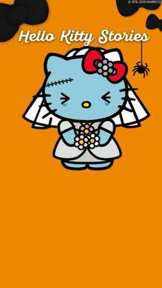 Hello Kitty Hello Kitty Cartoon, Hello Kitty Images, Hello Kitty Halloween, Halloween Cat, Hello Kitty Wallpaper, Sanrio Characters, Little Twin Stars, Coffin Nails, Pop Art
