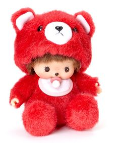 Take a look at this Red Bear Bebichhichi Plush Toy by Monchhichi on #zulily today! $21 !!