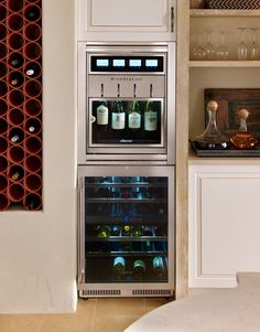 If you're a wine connoisseur, you'll love Dacor's Discovery™ WineStation®. It's the first commercial-grade, built-in wine dispenser and preservation system that's designed specifically for the home. It holds four bottles at a time and al