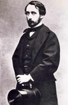 Photo of impressionist painter Edgar Degas at about age 31, ca. 1865, from the collection of the National Library of France, Paris.