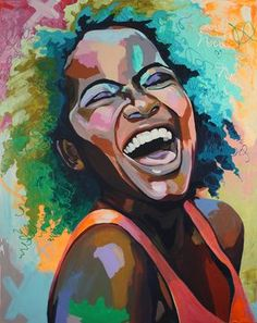 Painting Inspiration Acrylic Nature 63 New Ideas Black Art, Black Girl Art, Art Girl, L'art Du Portrait, Abstract Portrait, Portraits, Woman Portrait, Painting Abstract, African American Art