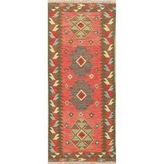Oriental Kilim Hand Woven Southwestern Persian Wool Runner Rug - x Runner x Runner - Multi-Colored), Multicolor