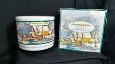 Currier & Ives Collection Electric Simmering Pot Fragrance Warmer Old Grist Mill #CurrierIvesCollection