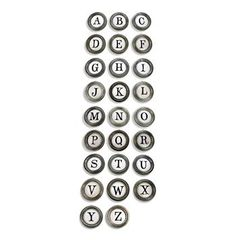 Vintage Typewriter Keys A to Z Metal Letter Wall Decor. AWESOME !