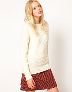Enlarge Boutique by Jaeger Winnie Jumper in Horizontal Cable Knit