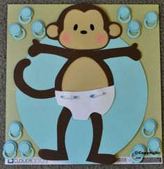 Pin the Binky on the Monkey Baby Shower Game boy Very popular Take 10% off TODAY SUPER SALE. $9.99, via Etsy.