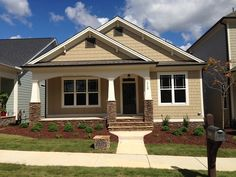Located in the Briar Chapel community, this Oberlin Craftsman plan from @Homes By Dickerson is a green-certified ranch.