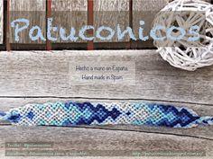 Friendship bracelet Patuconicos hand Made. Pulseras de la amistad Patuconicos, hechas a mano con nudos de macramé.