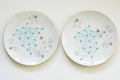 vintage plate meets atomic image. simply beautiful from ninainvorm